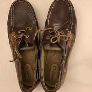 Tan women's speedy topsides. Size 8, worn once